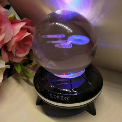 Star Trek USS Enterprise 3D LED Crystal Decor Night Light Xmas Lamp Gift Toy • 17.49£