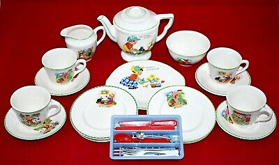 Vintage Childrens Nursery Rhyme Tea Set • 29£