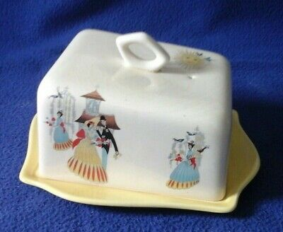 Vintage/retro Happy Morn By Beswick England Cheese/butter Dish (1432) • 34£