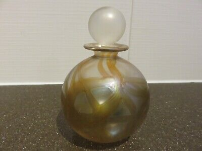 Isle Of Wight Art Glass Perfume Bottle With Stopper • 35£