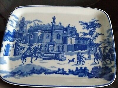 Antique Ironstone Pottery Flow Blue Heavy Platter • 29.99£