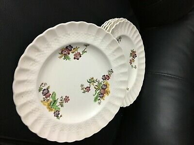 6 Vintage Dinner Plates Spode Copeland  Wicker Lane  In Excellent Condition 9  • 10£