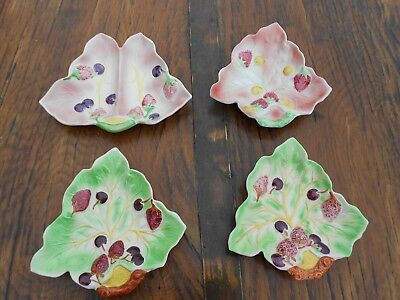4 Vintage Avon Art Pottery Avon Ware Strawberry/Cherry Pattern Dishes • 9£