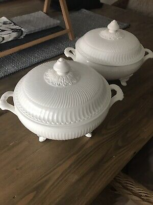 Beautiful White Allegretto Villeroy And Boch Vegetable Tureens X2 • 100£
