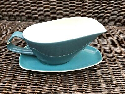 Blue Moon Gravy Boat And Dish, Poole Pottery • 2£