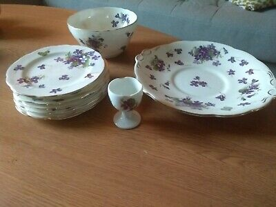 Hammersley Victorian Violets China Plates • 10£