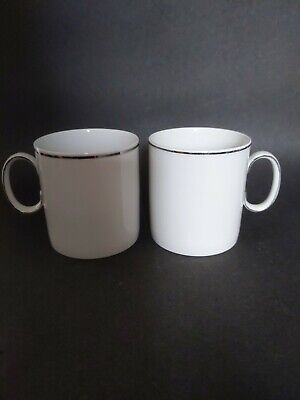 Thomas China Germany Narrow Platinum Band Porcelain Cup & Saucer • 6.99£
