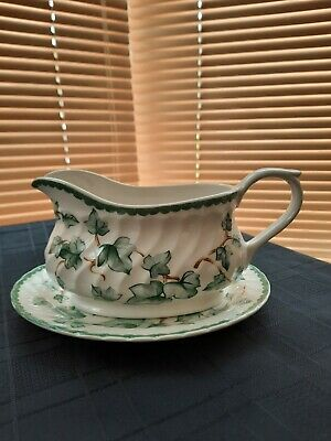 Bhs Country Vine Gravy Boat And Stand • 10£