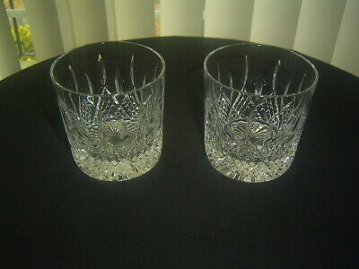 2 Stuart Crystal Cut Hamilton Whisky Glasses First Quality Signed  • 19.99£