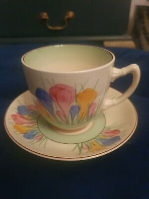 Clarice Cliff Crocus Spring Cup And Saucer • 85£
