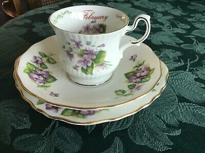 Vintage Mismatch Trio Of Queens China February Coffee Cup And Royal Vale Saucer  • 5.99£