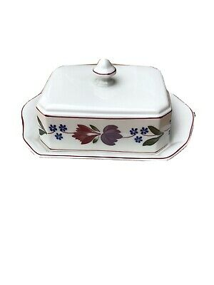 Adams Old Colonial Butter Dish And Plate, Good Condition • 56£