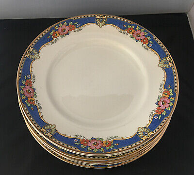 VINTAGE BOOTHS SILICON CHINA 1920s/1930s Made For Harrods. 6 X Dinner Plates • 10£