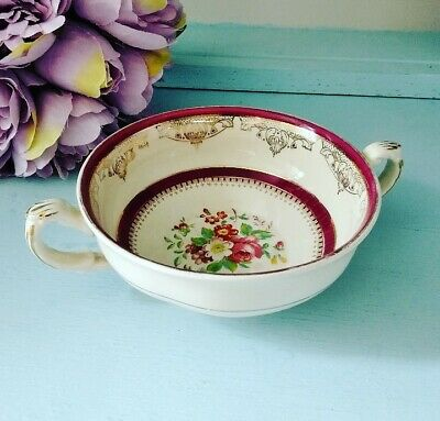 Vintage Grindley Floral Soup Coupe Shabby Chic • 4.99£