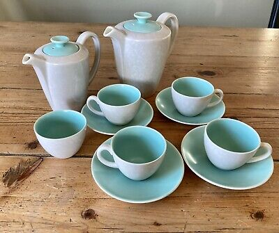 Poole Pottery Vintage Art Deco Tea/ Coffee Set For Four Twintone Great Conditon • 14.99£