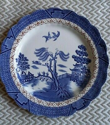 Vintage Booths Real Old Willow Dinner Plate - 10  • 8£
