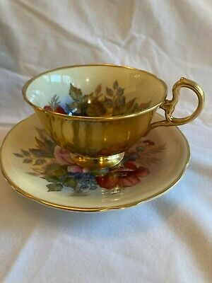 Aynsley Cup And Saucer Floral Bouquet Signed JA Bailey • 102£