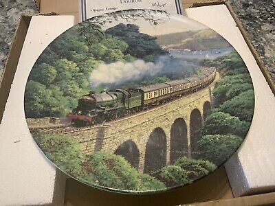 ROYAL DOULTON  OVER THE VIADUCT  Norman Elfold, Sunshine & Steam Collection (2) • 10£