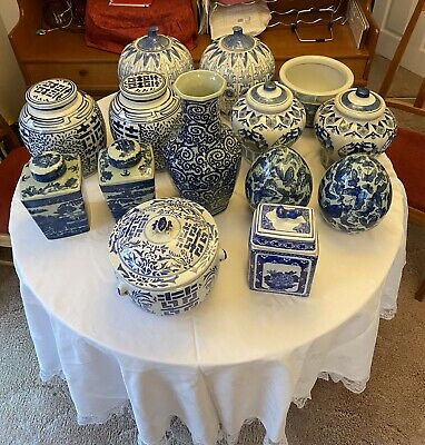 Collection Of Blue & White China • 80£