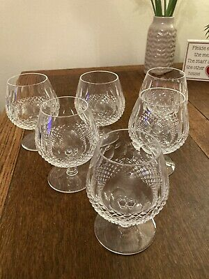 Waterford Colleen Crystal Brandy Glasses X6  • 23.80£