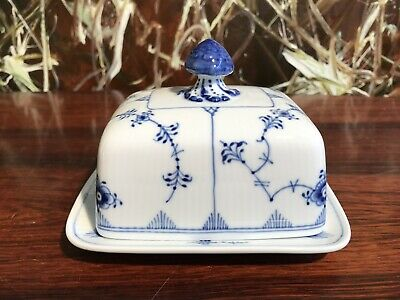 Royal Copenhagen Fluted Ribbed/Blue Fluted Butter Dish • 101.90£