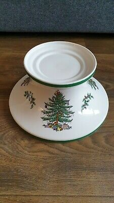 Spode Christmas Tree Large Base / Holder For Candle • 25£