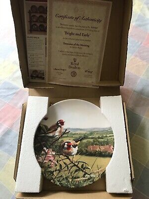 Royal Doulton Limited Edition Collector Plates Treasures Of The Morning • 2.64£