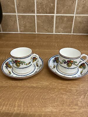 Beautiful Vintage Cauldon China Expresso 2 X Cup And Sauce Hand Finished 6086 • 17.25£