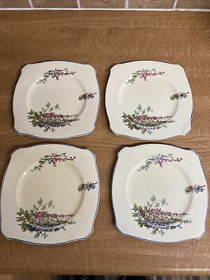 4 X Antique / Vintage New Hall Pottery ~ Side Plates 160mm • 18.90£