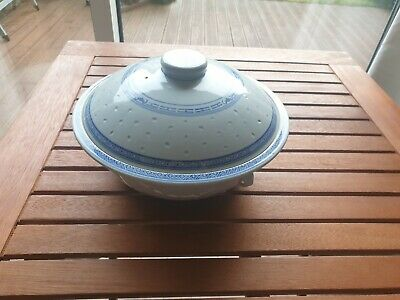 Chinese Soup Serving Bowl With Lid • 15£
