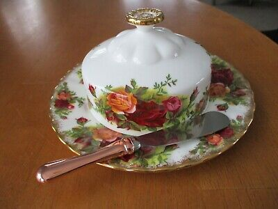 Royal Albert Old Country Roses Butter Dish/lid 1st Quality Unused/ Smallspreader • 19£