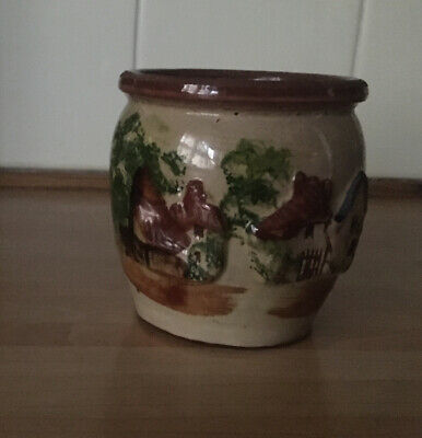 Vintage Cockington Forge Ornamental Decorative Small Pottery Vase/pot • 3£