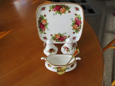 Royal Albert Old Country Roses 4 Piece Cruet 1st Quality Excellent Unused Condi • 21£