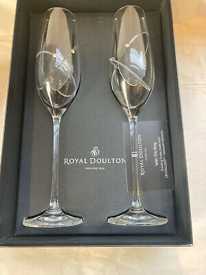 Royal Doulton With This Ring Toasting Flutes.  • 20£