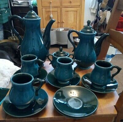 Vintage Made In England Green Pottery Tea Set  • 45£