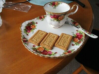 Royal Albert Old Country Roses Snack Tray/tea Cup 1st Good/free Spoon Unused • 14.50£