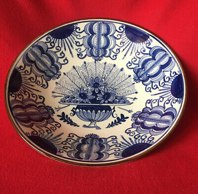 Delft Holland Hand Painted Bowl - 23 Cms • 30£