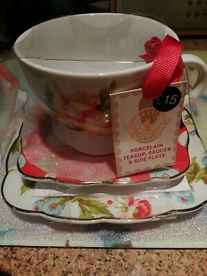 Porcelain Marks And Spencer Teacup, Saucer And Side Plate • 5£