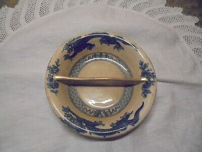 Antique/vintage Booths Silicon China 2-section Pickle/sauce Dish - Dragon Design • 12£