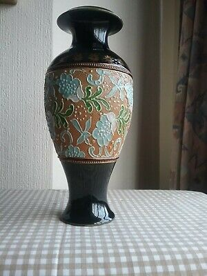 Royal Doulton Stoneware Vase. 10 Tall • 35£