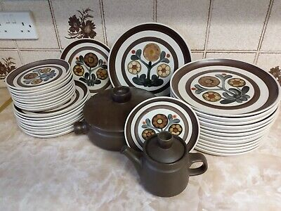 Vintage Denby/Langley Pottery Mayflower Plates And Tableware • 50£