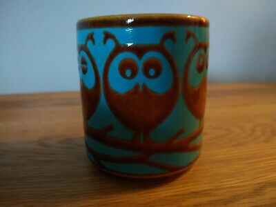 Vintage/retro Hornsea Pottery Owl Pot Stamped To The Base And Dated 1974. • 10.51£
