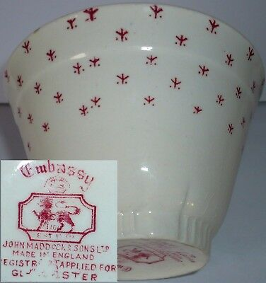John Maddock And Sons Sugar Bowl ?  C1860s ?  Cannot Find On The Net, Rare Mark. • 6.95£