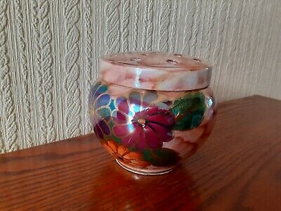 VINTAGE ROSE BOWL OLD COURTWARE BY J FRYER Dia 14CM Hand Painted • 3£