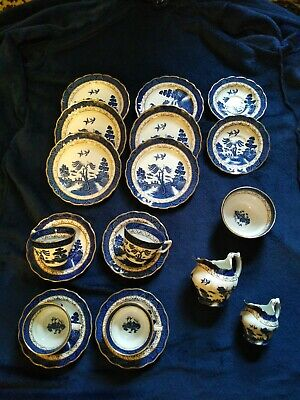 Booths Real Old Willow Gilt Edge Tea Set 19 Pcs • 50£