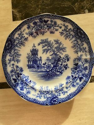 Antique Blue And White South Wales Pottery Plate C. 1839-58 • 6.60£