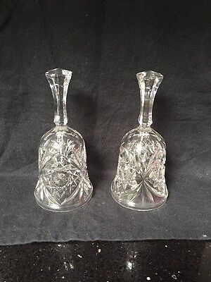 2 Crystal Bells. Height 7 Inches • 6.99£