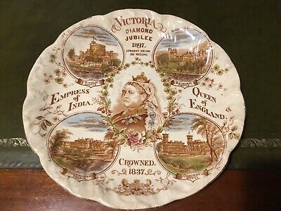 Approx 10'' Genuine  Queen Victoria 1897 Wall Plate Featuring Royal Residences • 19.99£