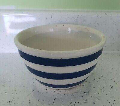 Vintage Blue & White Striped Pudding Basin / Bowl - Chef Ware • 4.99£