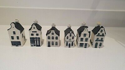 6 X Bols KLM Delft Miniature Houses Numbers 5, 7 12, 16, 18 & 36 Collectable • 28£